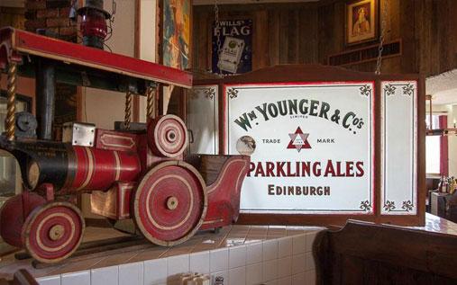 Bar at Tonopah Station Hotel in Nevada