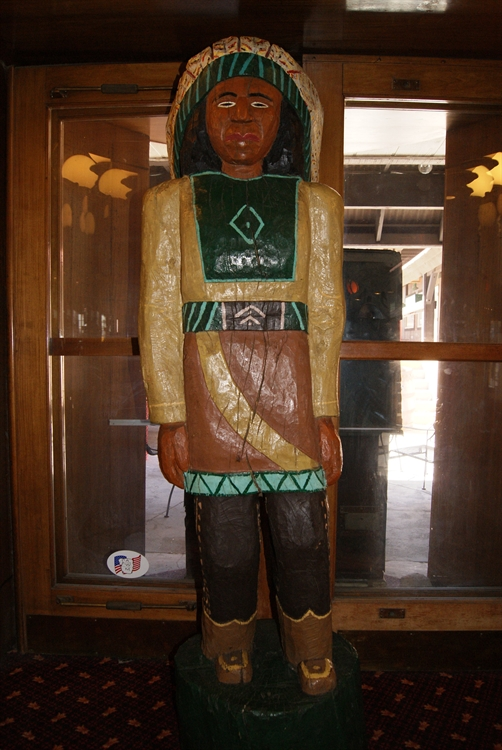 Wooden Indian Statue at Tonopah Station Hotel