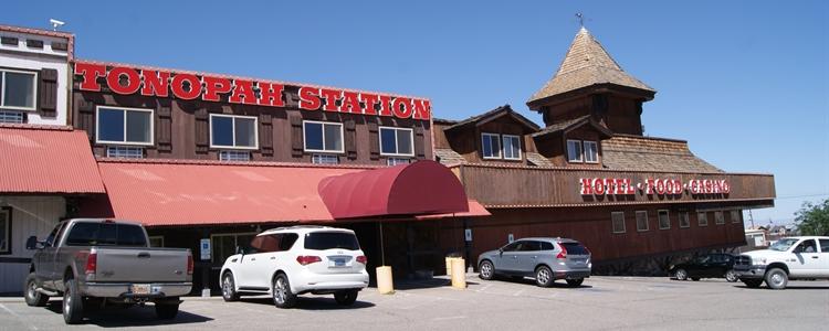 Front Entrance of Tonopah Station Hotel
