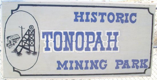Historic Tonopah Mining Park Sign